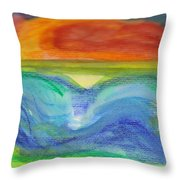 Impressions Of The Sea 4 Throw Pillow