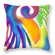 Impressions Of Tropics Throw Pillow
