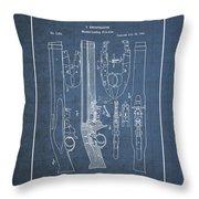 Improvement To Muzzle-loading Fire-arm - Vintage Patent Blueprint Throw Pillow