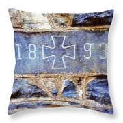 In 1893 Church Cornerstone  Throw Pillow