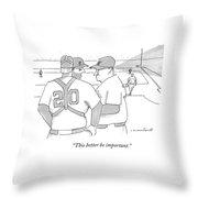 In A Baseball Game Throw Pillow
