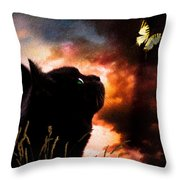 In A Cats Eye All Things Belong To Cats.  Throw Pillow
