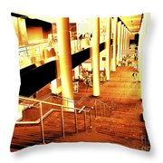 In A City Of Gold Throw Pillow