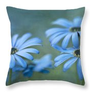 In A Corner Of A Garden Throw Pillow by Priska Wettstein