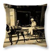 In A Cuban Village Throw Pillow