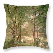 In A Fairy Woodland Throw Pillow