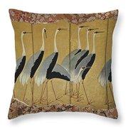 In A Flock Throw Pillow