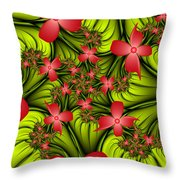 In A Flower Meadow Throw Pillow
