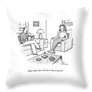 In A Living Room Throw Pillow