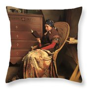 In A Pine Wood Throw Pillow