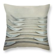 In A Row Throw Pillow by Priska Wettstein
