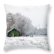 In A Sea Of White Throw Pillow