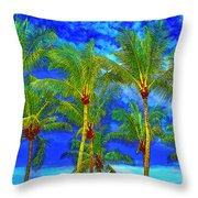 In A World Of Palms Throw Pillow