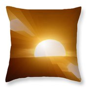 In All The Glory Throw Pillow