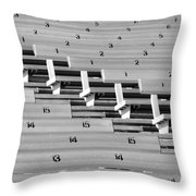 In An Orderly Fashion Throw Pillow