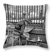 In Another World Monochrome Throw Pillow