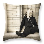 In Bliss Of Ignorance Throw Pillow