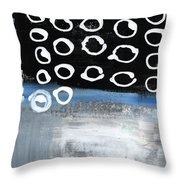 In Circles 2-abstract Painting Throw Pillow
