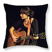 In Concert With Folk Singer Pieta Brown Throw Pillow