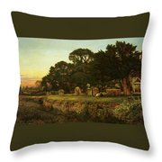 In Country Churchyard Wittington Worcester Throw Pillow