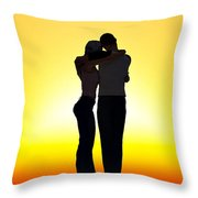 In Each Others Arms... Throw Pillow