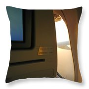 In Flight Choices Throw Pillow