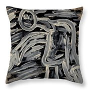 In For The Hug Throw Pillow