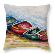 In From The Sea Throw Pillow by Eloise Schneider