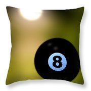 In Front Of The Eight Ball Throw Pillow