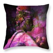 In Full Dress - Turkish Soldier Bashibazouk - Featured In The Abc -f- Feminine Group Throw Pillow