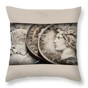 In God We Trust_silver Dollars Throw Pillow