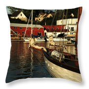 In Harbor Throw Pillow by Karol Livote