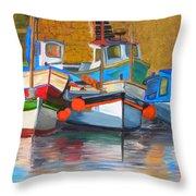 In Harbor Throw Pillow