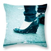 In Her Shoes Throw Pillow