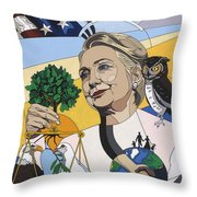 In Honor Of Hillary Clinton Throw Pillow by Konni Jensen