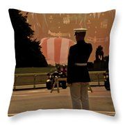 In Honor Of Our Fallen Heroes Throw Pillow