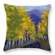 In Love With Fall River Road Throw Pillow