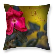 In Love With Message Throw Pillow