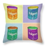 In Loving Memory Of Donny Who Loved Bowling Set Of 4 Variant 1 Throw Pillow