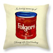 In Loving Memory Of Donny Who Loved Bowling  Variant 1 Throw Pillow