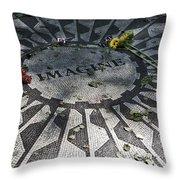 In Memory Of John Lennon - Imagine Throw Pillow