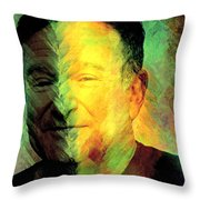 In Memory Of Robin Williams Throw Pillow