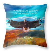 In Memoryof Armed Forces Throw Pillow