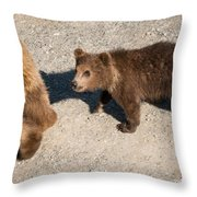 In Mom's Footsteps Throw Pillow