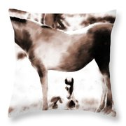 In Mom's Shadow Throw Pillow