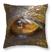 In My Dog's Eyes I'm Everything Throw Pillow
