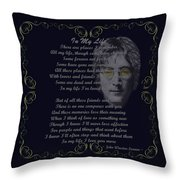 In My Life Golden Scroll Throw Pillow