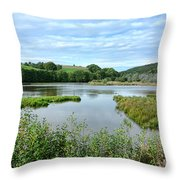 In Norman Switzerland Throw Pillow by Olivier Le Queinec
