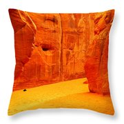 In Orange Chasms Throw Pillow