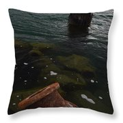 In Our Rusty Submarine Throw Pillow